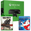 Xbox One Console With 1TB Hard Drive, Call of Duty Advanced Warfare Gold & Ghostbusters Bluray