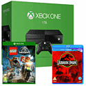 Xbox One Console With 1TB Hard Drive, LEGO Jurassic World & Jurassic Park Bluray