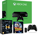 Xbox One Console with Halo Master Chief Collection LE, Wireless Controller & Play & Charge Kit and Back to the Future