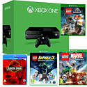Xbox One Console With LEGO Jurassic World, LEGO Batman 3, LEGO Marvel & Jurassic Park Bluray