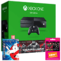 Xbox One Console With Gears of War Ultimate Edition Download, Ghostbusters Bluray & NOW TV 3 Month Entertainment Pass