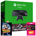 Xbox One Console With Gears of War Ultimate Edition Download, Back To The Future Bluray & NOW TV 3 Month Entertainment Pass