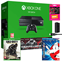Xbox One With Gears Of War Ultimate Edition, COD Advanced Warfare, Ghostbusters Bluray, NOW TV 3 Month Pass & Play & Charge Kit