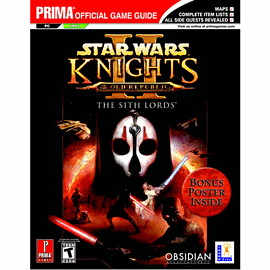 Star Wars: Knights of the Old Republic II - The Sith Lords Strategy Guide Strategy Guides and Books