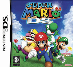 Super Mario 64 DS DSi and DS Lite Cover Art