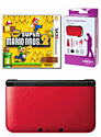 Nintendo 3DS XL Red with New Super Mario Bros 2 and GAMEware 3DS XL Starter Pack
