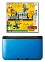 Nintendo 3DS XL Blue with New Super Mario Bros 2 and GAMEware 3DS XL Starter Pack