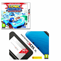 Nintendo 3DS XL Blue with Sonic & All-Stars Racing Transformed and GAMEware 3DS XL Starter Pack