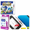 Nintendo 3DS XL Blue with Sonic Generations and GAMEware 3DS XL Starter Pack