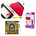Nintendo 3DS XL Red with GAMEware 3DS XL Starter Pack and Professor Layton and the Azran Legacy