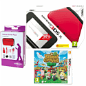 Nintendo 3DS XL Red with Animal Crossing: New Leaf and 3DS XL Deluxe Starter Pack