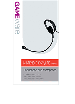 GAMEware Headphone and Microphone - Black for DS Lite Accessories