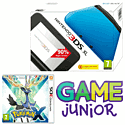 Nintendo 3DS XL Blue with Pokemon X and 3DS XL Deluxe Starter Pack