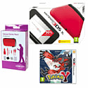 Nintendo 3DS XL Red with Pokemon Y and 3DS XL Deluxe Starter Pack