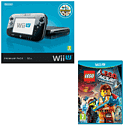 Preowned Black Wii U Premium with New The LEGO Movie Videogame