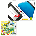 Nintendo 3DS XL Blue with Yoshi's New Island