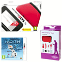 Nintendo 3DS XL Red with Disney's Frozen and GAMEware 3DS XL Starter Pack