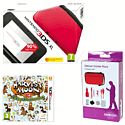 Nintendo 3DS XL Red with Harvest Moon: A New Beginning and GAMEware 3DS XL Starter Pack