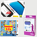 Nintendo 3DS XL Blue with Tomodachi Life and 3DS XL Deluxe Starter Pack