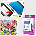 Nintendo 3DS XL Blue with Kirby Triple Deluxe and 3DS XL Deluxe Starter Pack