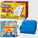 Nintendo 2DS White & Red with New Super Mario Bros 2 Special Edition, Tomodachi Life and 2DS Blue Carry Case