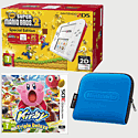 Nintendo 2DS White & Red with New Super Mario Bros 2 Special Edition, Kirby Triple Deluxe and 2DS Blue Carry Case