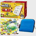 Nintendo 2DS White & Red with New Super Mario Bros 2 Special Edition, Yoshi's New Island and 2DS Blue Carry Case