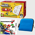 Nintendo 2DS White & Red with New Super Mario Bros 2 Special Edition, Mario Kart 7 and 2DS Blue Carry Case