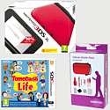 Nintendo 3DS XL Red with Tomodachi Life and 3DS XL Deluxe Starter Pack