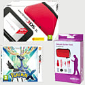 Nintendo 3DS XL Red with Pokemon X and 3DS XL Deluxe Starter Pack