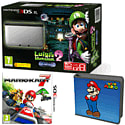 Nintendo 3DS XL Silver with Luigi's Mansion 2, Mario Kart 7 and Super Mario Folio Kit - Only at GAME