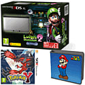 Nintendo 3DS XL Silver with Luigi's Mansion 2, Pokemon Y and Super Mario Folio Kit - Only at GAME