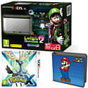 Nintendo 3DS XL Silver with Luigi's Mansion 2, Pokemon X and Super Mario Folio Kit - Only at GAME