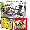 Nintendo 2DS with Mario Kart 7, Pokemon Omega Ruby and Pikachu Folio Kit - Only at GAME