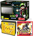 Nintendo 3DS XL Silver with Luigi's Mansion 2, Pokemon Omega Ruby and Pikachu Folio Kit - Only at GAME
