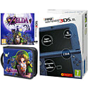 New Nintendo 3DS XL (Metallic Blue) with Legend of Zelda: Majora's Mask and Legend of Zelda Folio Kit