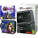 New Nintendo 3DS XL (Metallic Black) with Legend of Zelda: Majora's Mask and Legend of Zelda Folio Kit