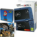 New Nintendo 3DS XL (Metallic Blue) with Monster Hunter 4 Ultimate and Super Mario Folio Kit