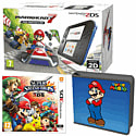 Nintendo 2DS with Mario Kart 7, Super Smash Bros and Super Mario Folio Kit - Only at GAME