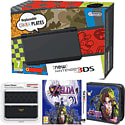 New Nintendo 3DS (Black) with Legend of Zelda: Majora's Mask, Legend of Zelda Folio Kit and Legend of Zelda Cover Plate