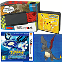New Nintendo 3DS (Black) With Pokémon Alpha Sapphire, Pikachu Folio Kit & Shiny Charizard Download