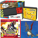 New Nintendo 3DS (Black) With Pokémon Omega Ruby, Pikachu Folio Kit & Shiny Charizard Download