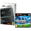 New Nintendo 3DS XL (Metallic Black) With Xenoblade Chronicles 3D