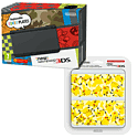 New Nintendo 3DS (Black) with Pikachu Cover Plate