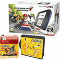 Nintendo 2DS with Mario Kart 7, Pikachu Folio Kit and Pokemon Omega Ruby Digital Download