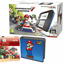 Nintendo 2DS with Mario Kart 7, Super Mario Folio Kit and Super Smash Bros Digital Download