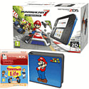 Nintendo 2DS with Mario Kart 7, Super Mario Folio Kit and Tomodachi Life