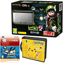 Nintendo 3DS XL with Luigi's Mansion 2, Pikachu Folio Kit and Pokemon Alpha Sapphire Digital Download