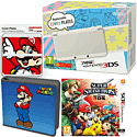 New Nintendo 3DS (White) with Super Smash Bros, Super Mario Folio Kit and Super Mario Cover Plate