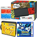 New Nintendo 3DS (Black) with Pokemon Alpha Sapphire, Pikachu Folio Kit and Pokemon Cover Plate